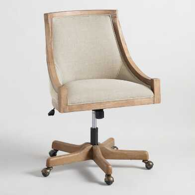 Natural Linen Henry Upholstered Office Chair