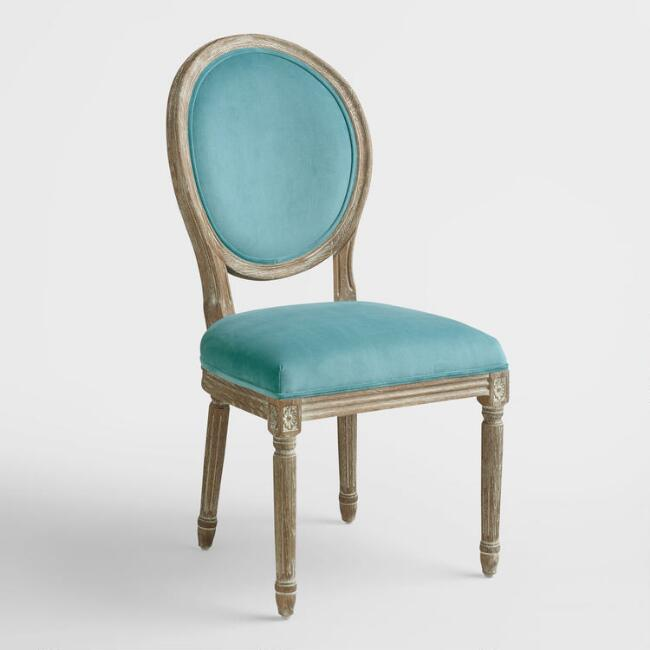 Peacock Blue Paige Round Back Dining Chairs Set of 2