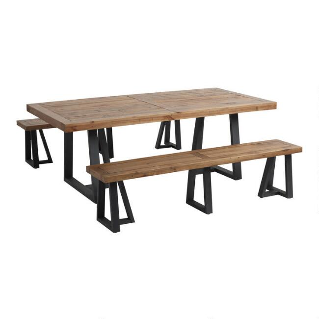 Reclaimed Pine Wood Alain Dining Collection World Market
