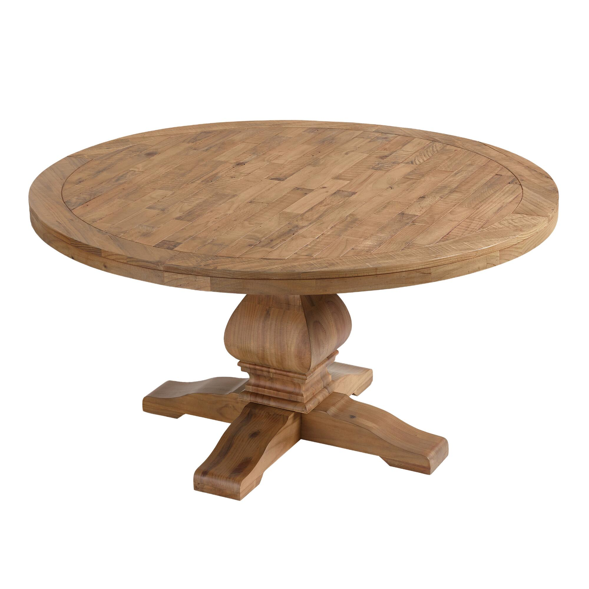 AFFORDABLE HOME DECOR IDEAS; FARMHOUSE WOODEN ROUND KITCHEN TABLE