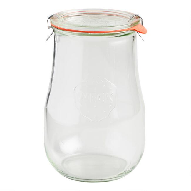 Large Glass Weck Tulip Jar