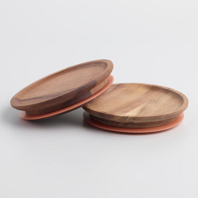 Large Wood Weck Jar Lids 2 Pack