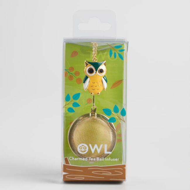Owl Gold Mesh Ball Tea Infuser