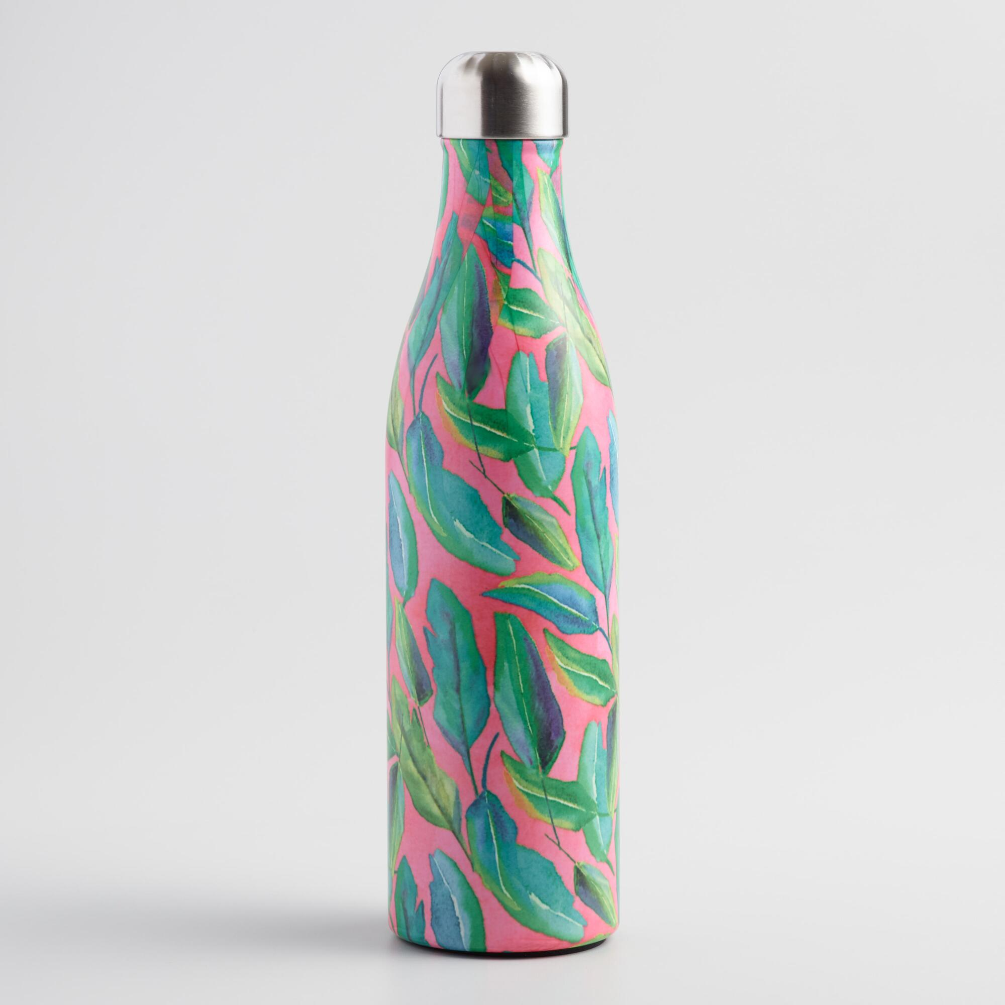 Large Botanicals Insulated Stainless Steel Water Bottle by World Market