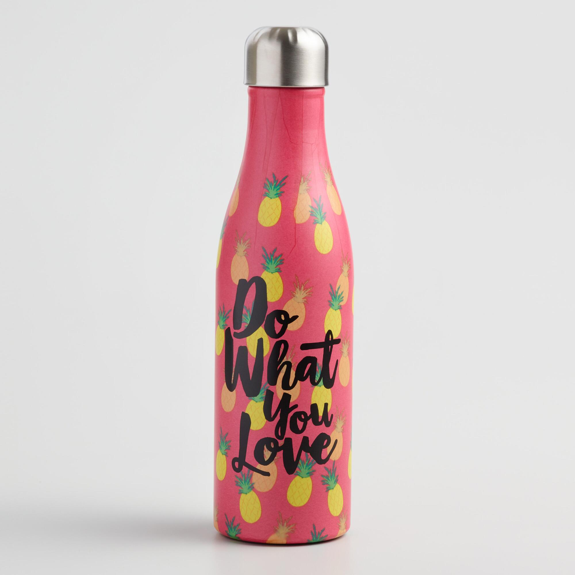 Medium Pineapples Insulated Stainless Steel Water Bottle by World Market