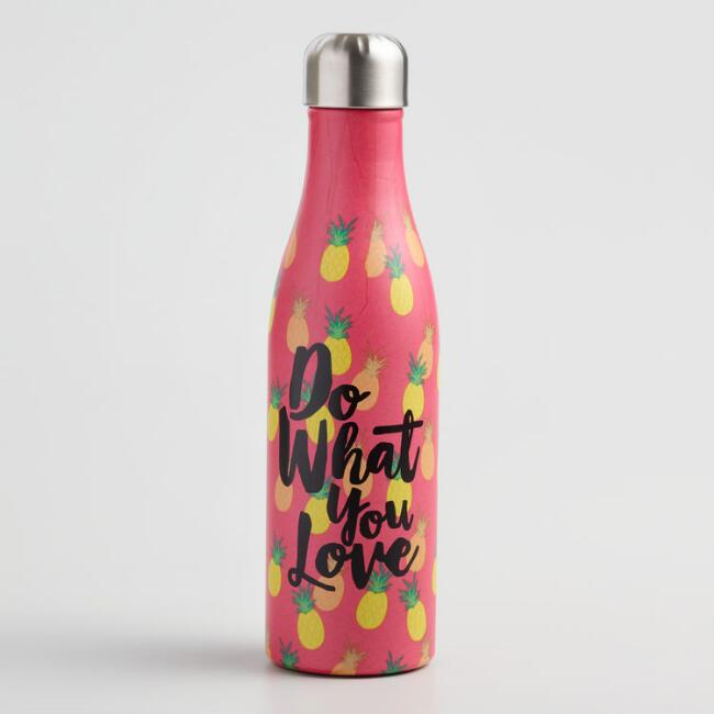 Medium Pineapples Insulated Stainless Steel Water Bottle