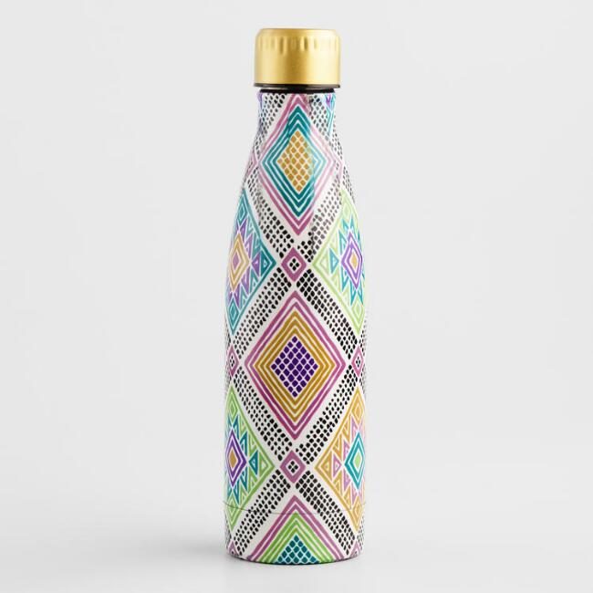 Multicolor Jane Print Stainless Steel Water Bottle