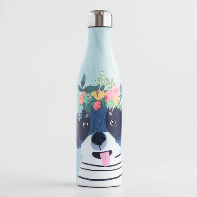 Large Fancy Dog Insulated Stainless Steel Water Bottle