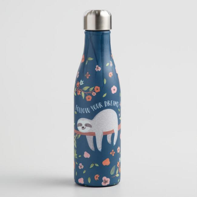 Medium Sloth Insulated Stainless Steel Water Bottle