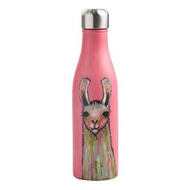 Studio Oh Pink Llama Insulated Stainless Steel Water Bottle