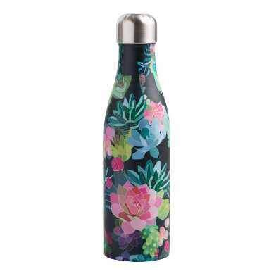Studio Oh Succulents Insulated Stainless Steel Water Bottle