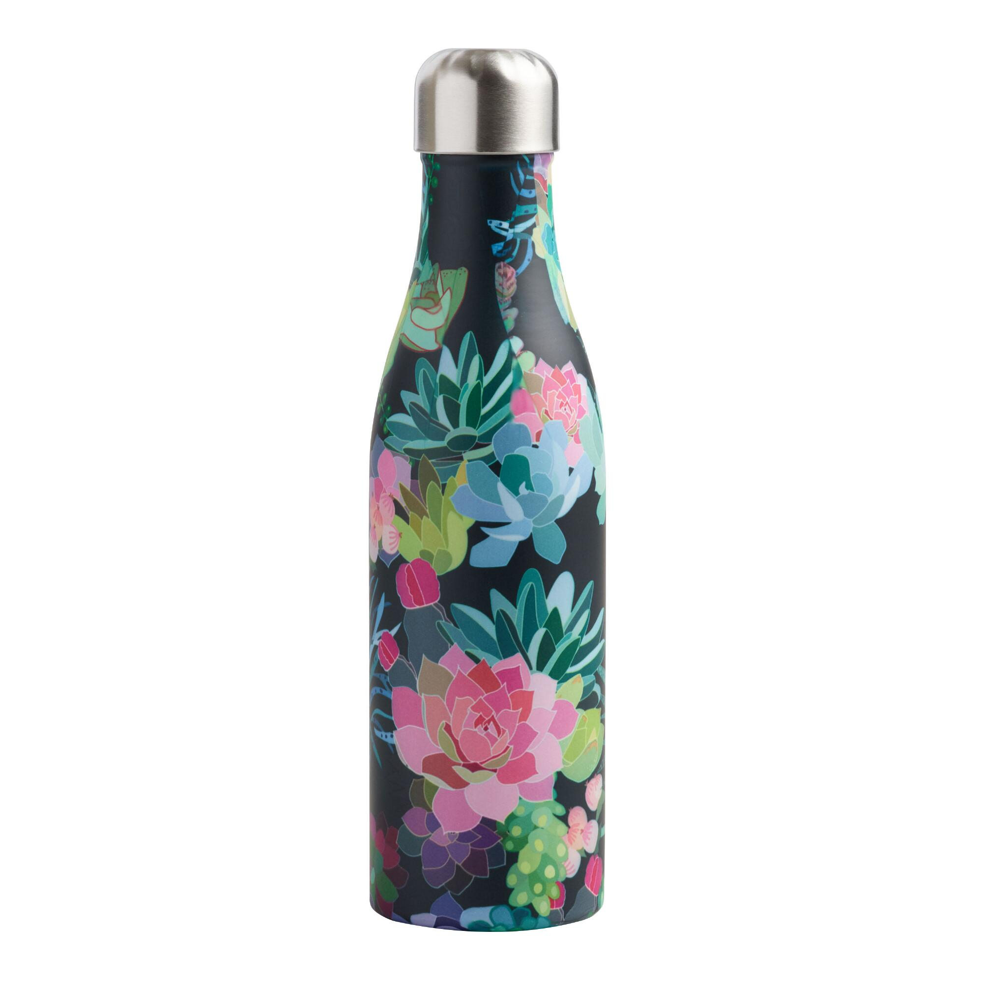 Medium Succulents Insulated Stainless Steel Water Bottle by World Market