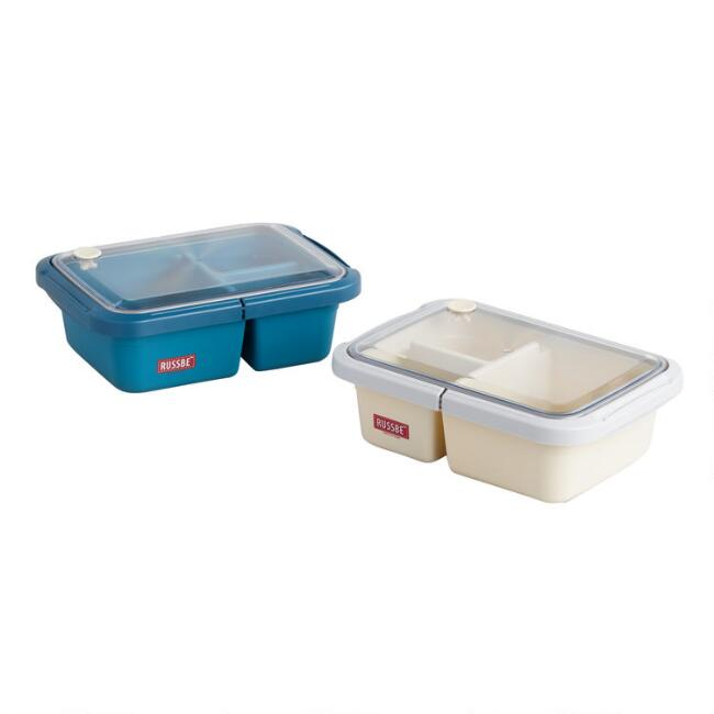 Russbe Large Bento Lunch Boxes Set of 2