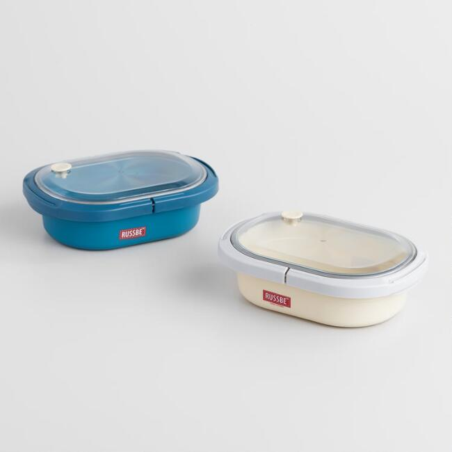 Russbe Small Oval Bento Lunch Boxes Set of 2
