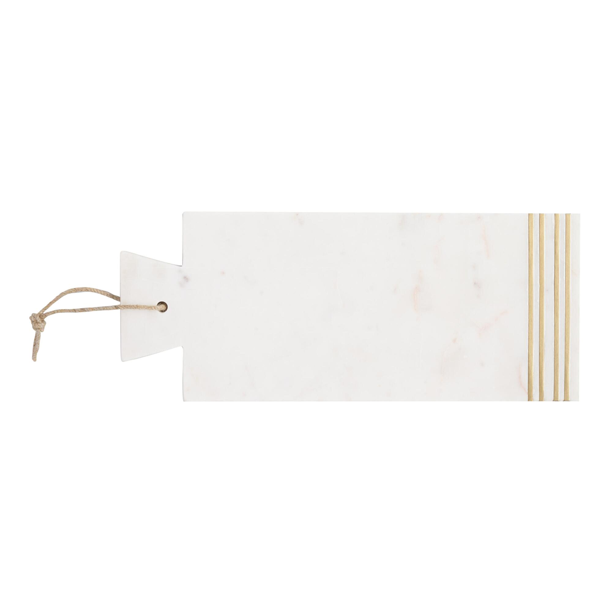 Marble and Brass Inlay Cheese Cutting Board by World Market