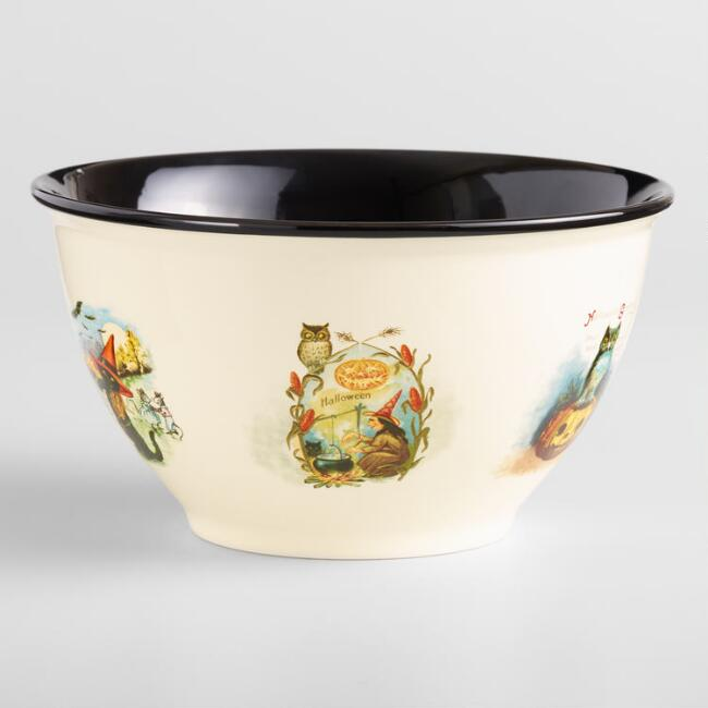 Flying Witch Enamel Serving Bowl