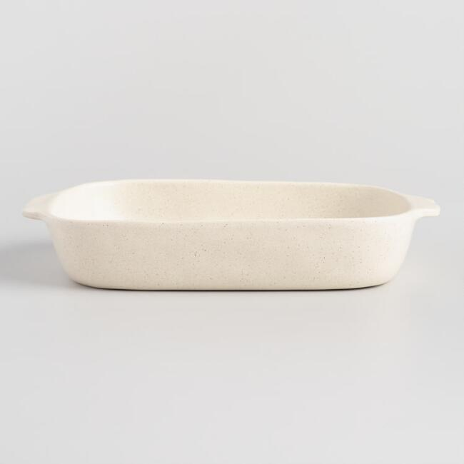Large Speckled Ceramic Baker