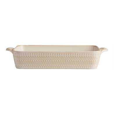 Textured Ceramic Lasagna Pan