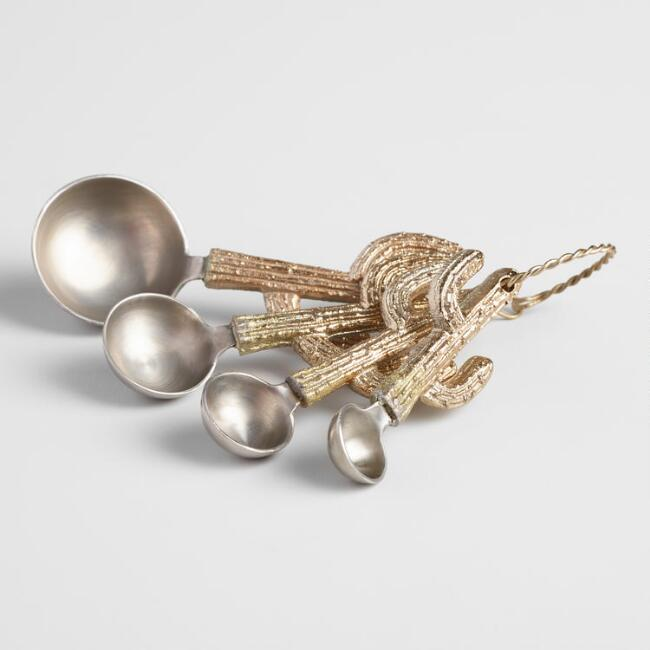Gold Cactus Nesting Measuring Spoon Set