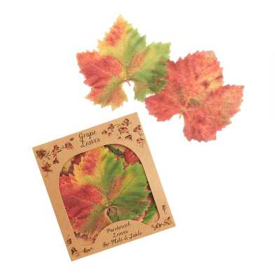 Fall Colors Parchment Paper Leaves 20 Count