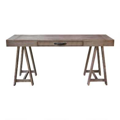 Gray Mahogany Wood Jemma Desk