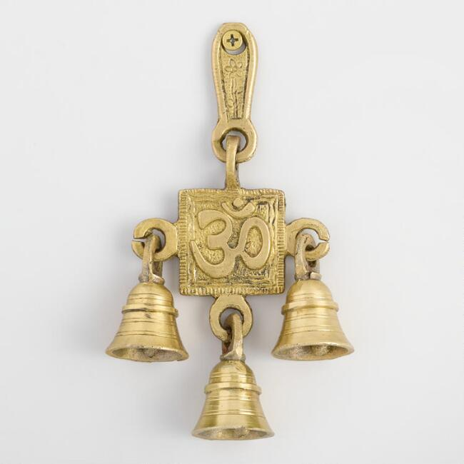 Gold Om Wall Decor with Bells
