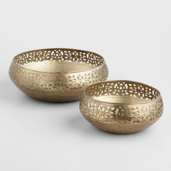 Metal Cutwork Lotus Bowls