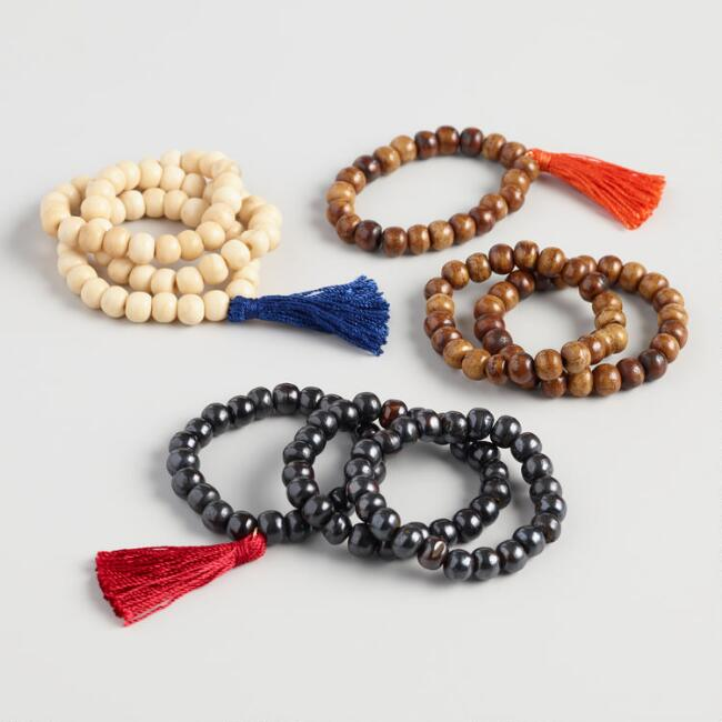 3 Pack Mala Bead Prayer Bracelets Set of 3
