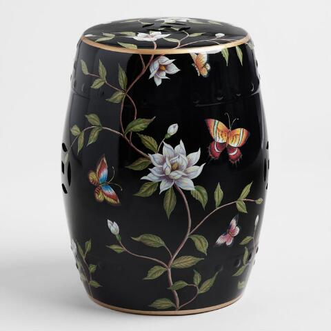 Terrific Black Ceramic Butterfly Stool Caraccident5 Cool Chair Designs And Ideas Caraccident5Info