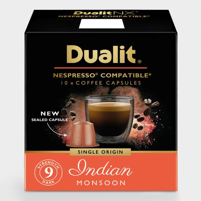 Dualit Indian Monsoon Compostable Coffee Capsules 60 Count