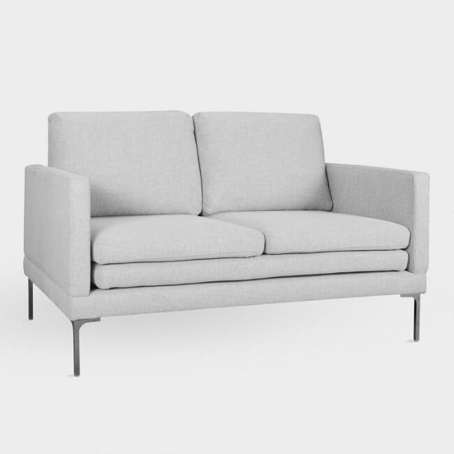 Dove Gray Gryffon Love Seat