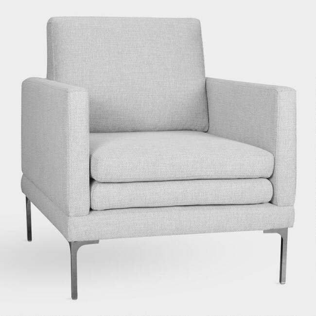 Dove Gray Gryffon Armchair