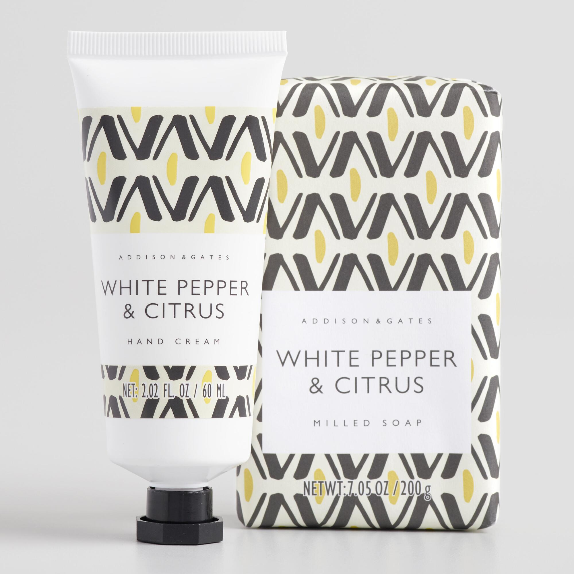 A&G Mid Century White Pepper and Citrus Body Care Collection by World Market