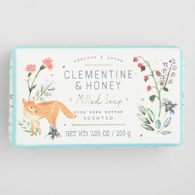 A&G Woodland Clementine and Honey Bar Soap Set of 2