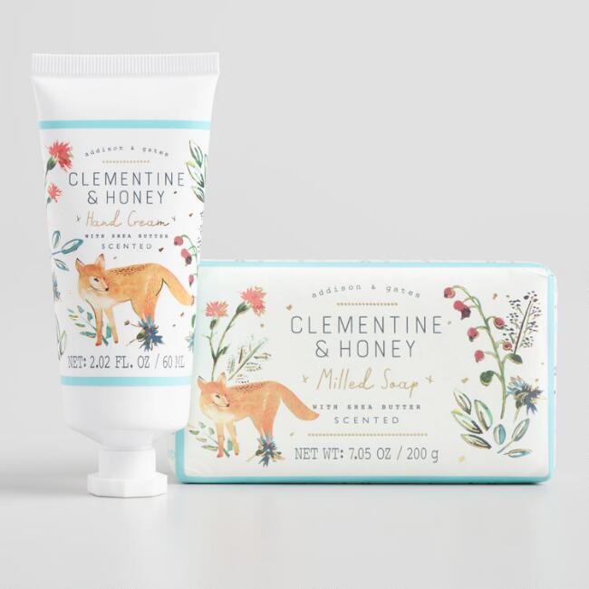 A&G Woodland Clementine and Honey Body Care Collection