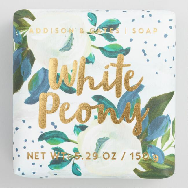 A&G Bloom White Peony Bar Soap Set of 2