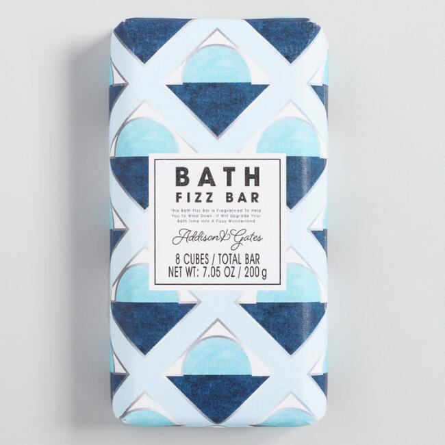 A&G Deco Geo Gardenia and Lily Bath Fizz Bar Set of 2