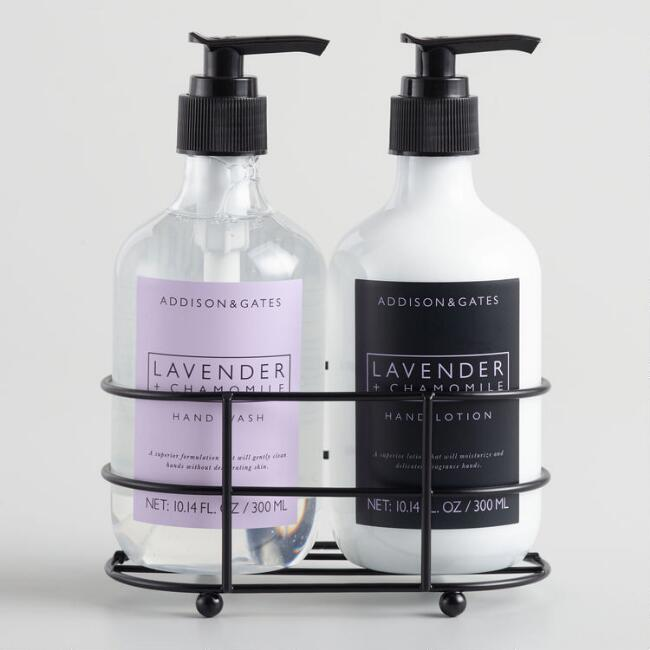 A&G Lavender and Chamomile Hand Care Set with Caddy