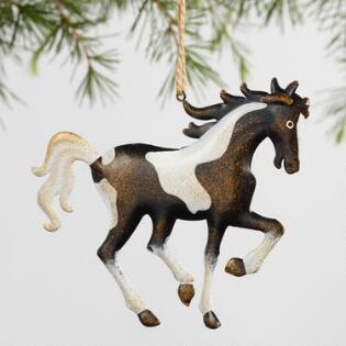 Metal Galloping Horse Ornaments Set Of 4