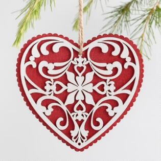 Unique christmas ornaments and holiday ornaments world market red and white wood scandi heart ornaments set of 3 solutioingenieria Gallery