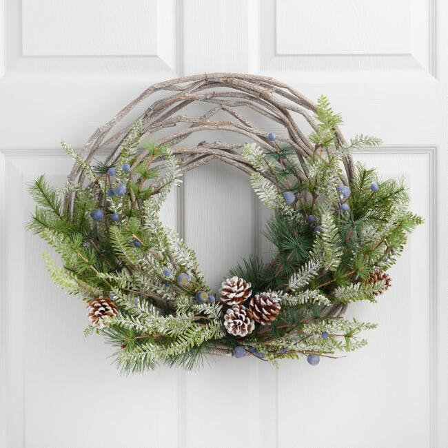 Faux Pine and Vine Wreath