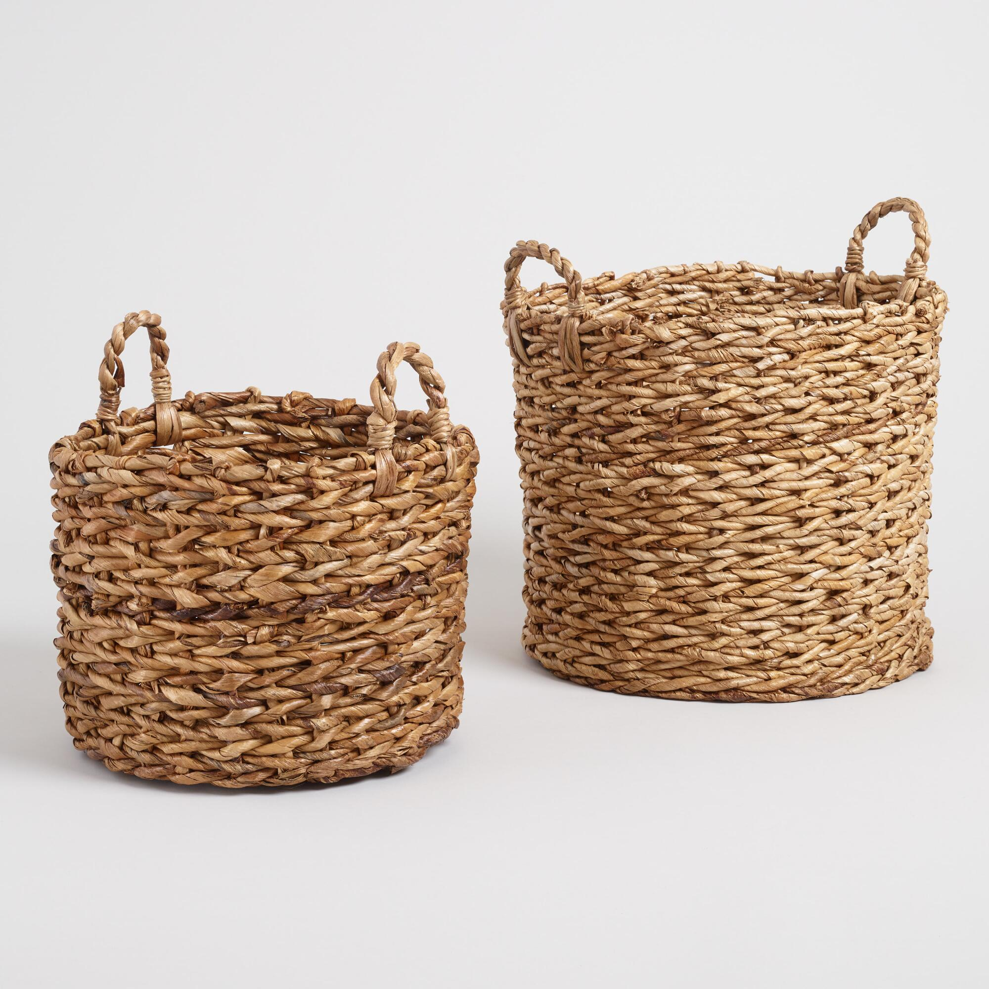 Natural Banana Leaf Multi Weave Naomi Baskets - Small by World Market Small
