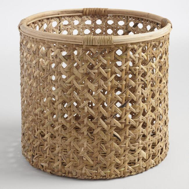 Large Natural Rattan Farrah Basket