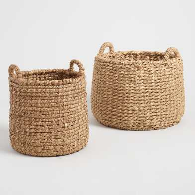 Natural Hyacinth Noelle Tote Basket