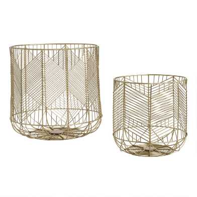 Gold Wire Geometric Reese Basket
