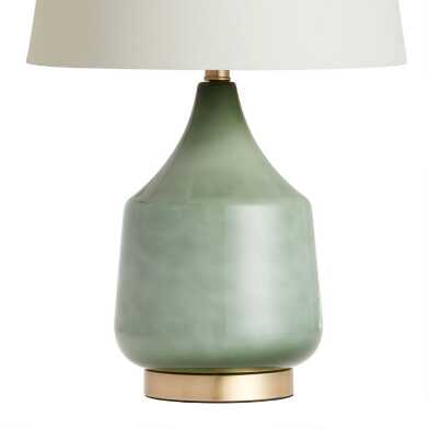 Jade Green Ombre Glass Table Lamp Base