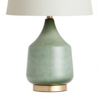Table top lamps unique lamp shades world market jade green ombre glass table lamp base aloadofball Gallery