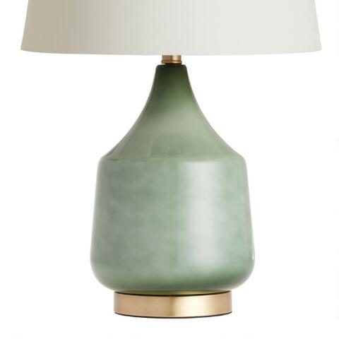 Jade Green Ombre Glass Table Lamp Base World Market
