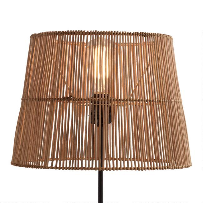 Natural rattan table lamp shade world market aloadofball