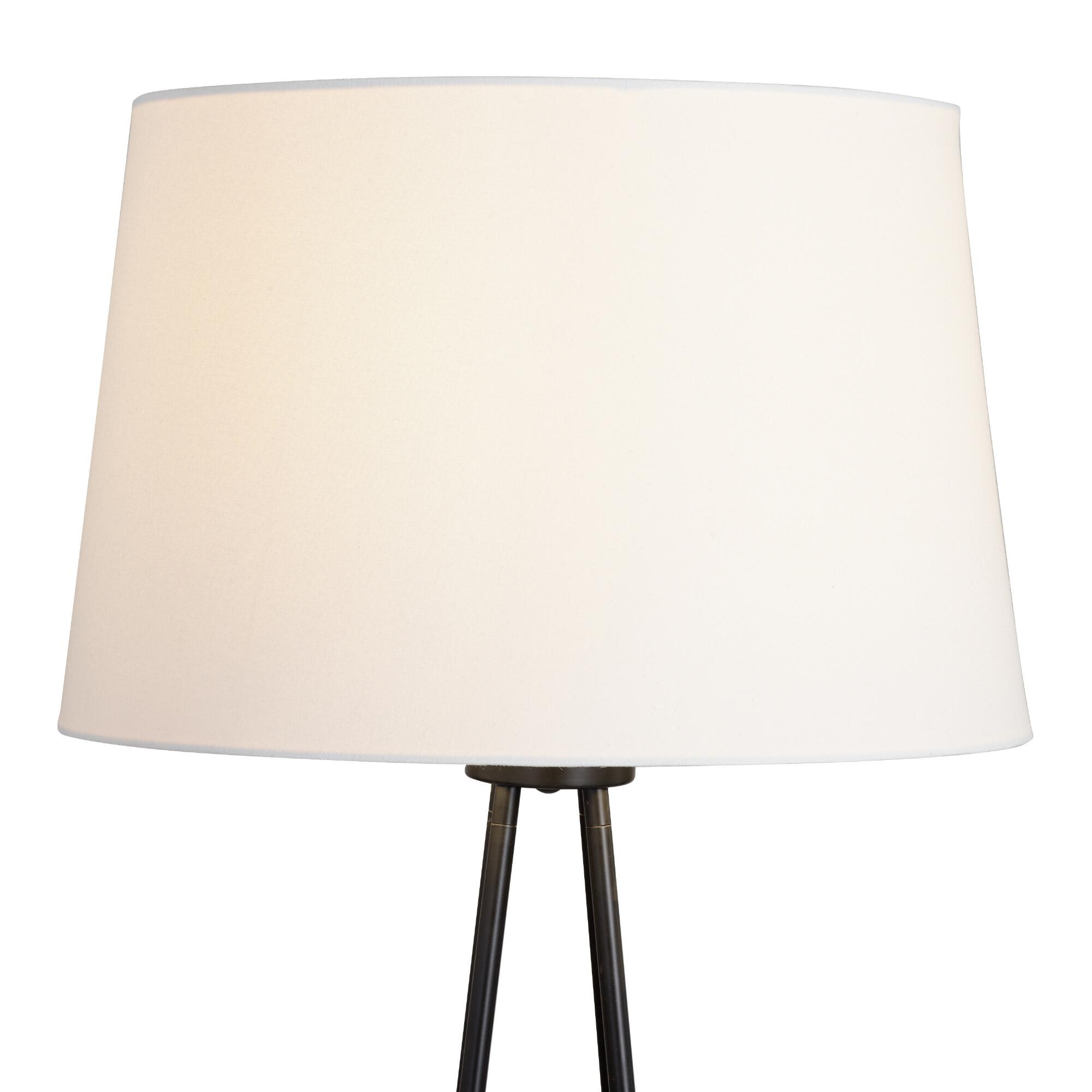White Linen Drum Floor Lamp Shade with Gold Lining by World Market